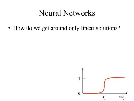 Neural Networks How do we get around only linear solutions?