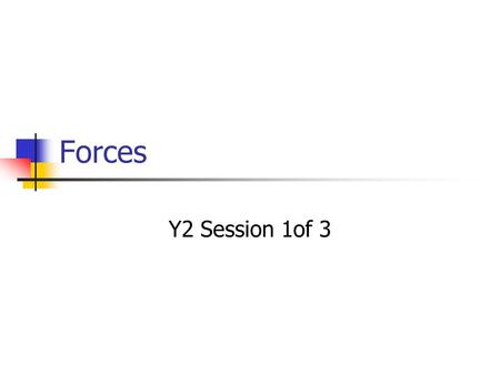 Forces Y2 Session 1of 3. Anticipated Learning Outcomes That students shall: explore some strategies for eliciting and developing understanding of forces.