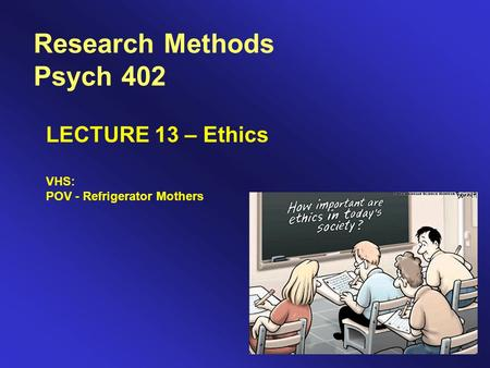 ethics in research methodology The research question, ethics, budget and time are all major considerations in any design this is before looking at the statistics required, and studying the preferred methods for the individual scientific discipline.