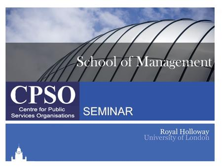 School of Management. Jurisdictional Change and Nursing's Professionalization: Liberating Nurses or Losing the Plot? Carole Doherty Lecturer in Healthcare.