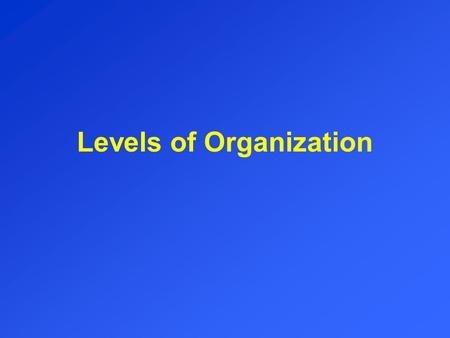 Levels of Organization. ATOMS Smallest part of matter NON-living.