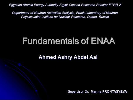 Egyptian Atomic Energy Authority-Egypt Second Research Reactor ETRR-2
