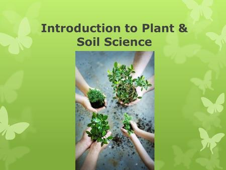 Introduction to Plant & Soil Science. Objectives: A. Define Horticulture and its related fields; B. Identify the various roles of plants in everyday life;