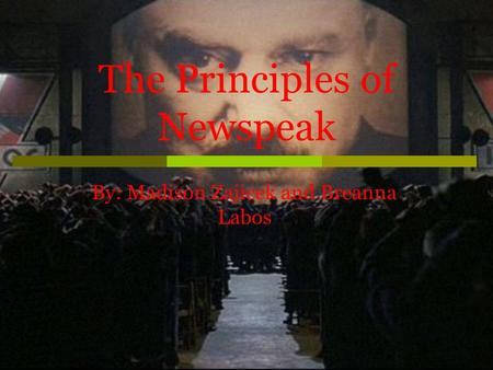 The Principles of Newspeak