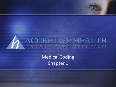 Medical Coding Chapter 1.