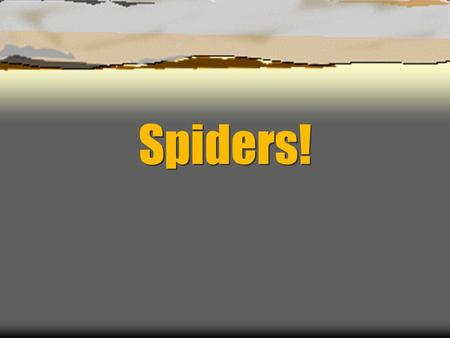Spiders!.  Spiders are not bugs. Spiders have 8 legs….. Bugs have 6 legs Spiders have 2 body segments…. Bugs have 3 segments.
