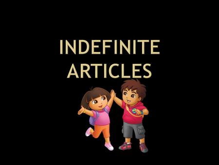 In Spanish, there are two kinds of articles. Definite Articles Indefinite Articles *Don't worry about what they are called… just make sure you know.
