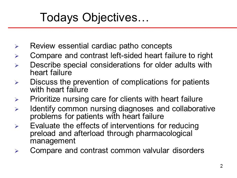 Introduction 3 Definition of CHF Etiology HTN MI Left sided vs.