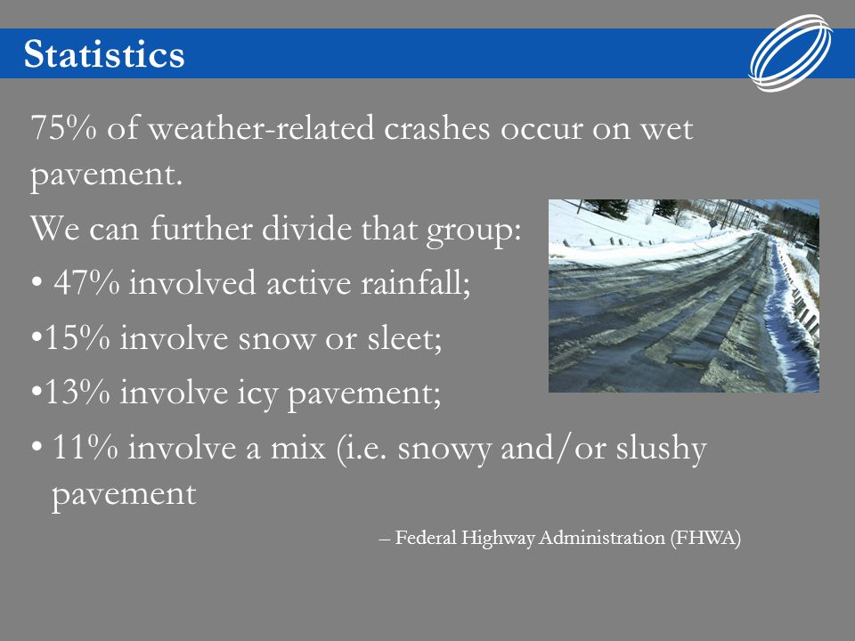 Introduction Hydroplaning occurs when a layer of water builds up between your vehicles tires and the road surface causing a loss of traction and possible loss of control.