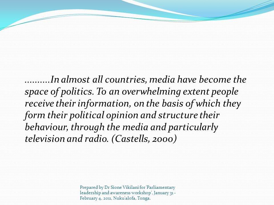Constraints on Media The media in new and young democracies have been hobbled by tough laws, Eg.