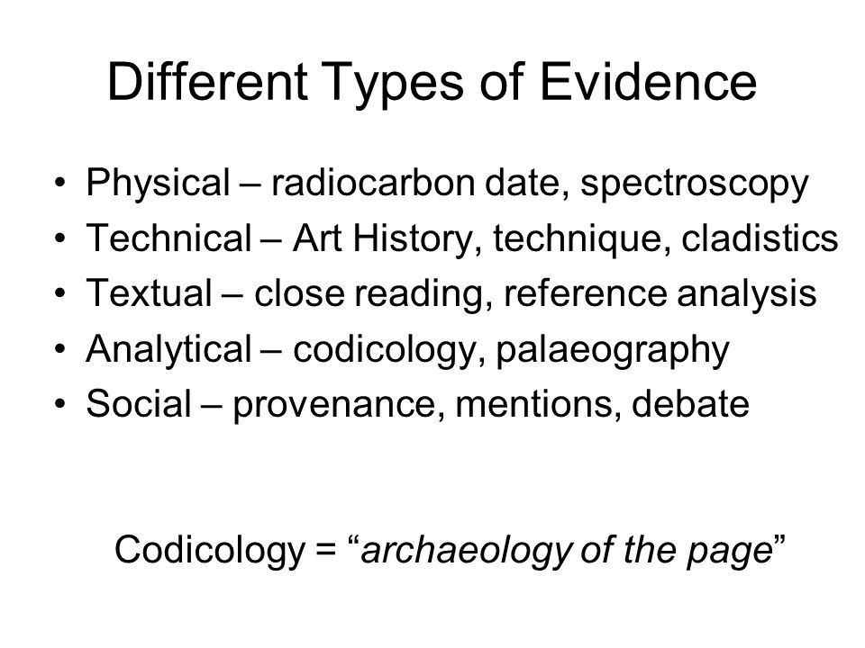 Codicology: separate the layers.