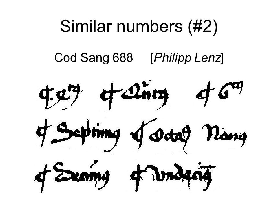 Similar numbers (#3) Seckau Abbey MS 384 [Thomas Sauvaget]