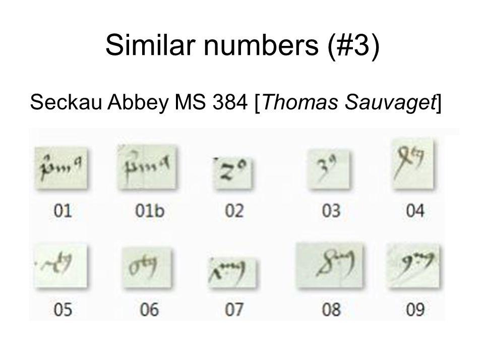 Similar numbers (#4) Žiče Monastery MS 972 [Thomas Sauvaget]