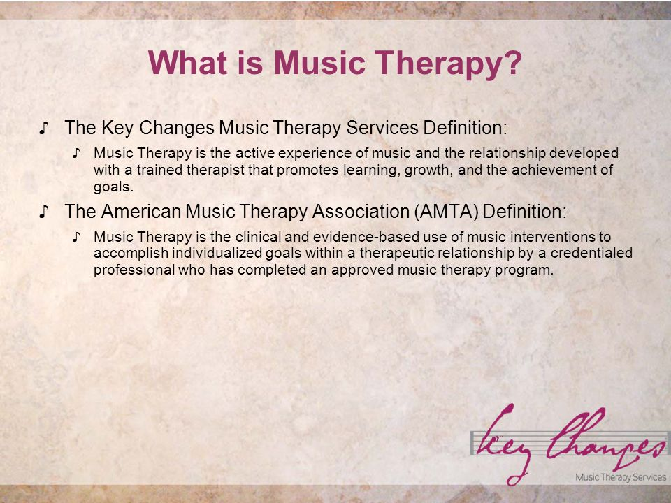 What is Music Therapy.