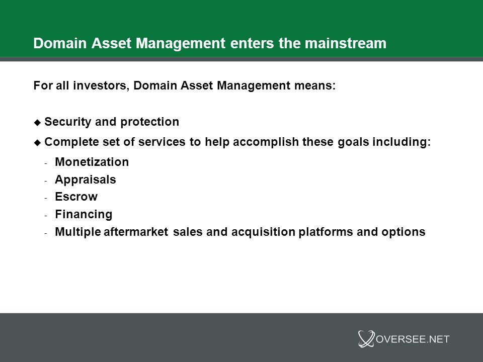 Domain Asset Management Q&A