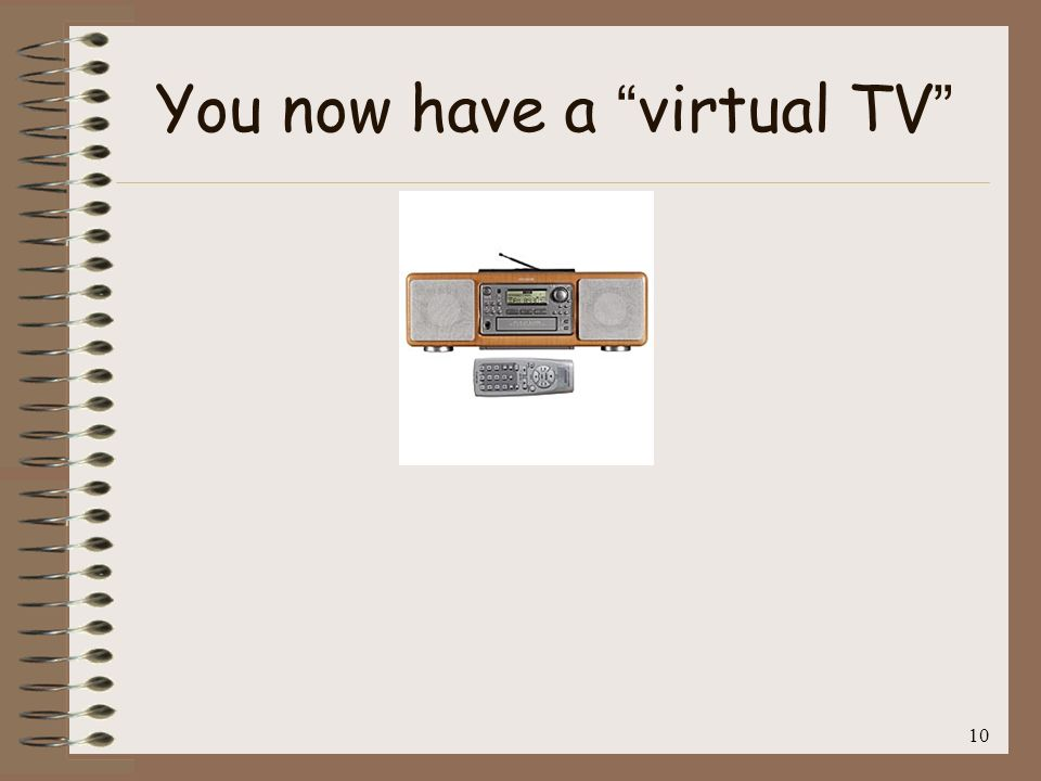 11 You now have a virtual TV Who would use a screenless TV?