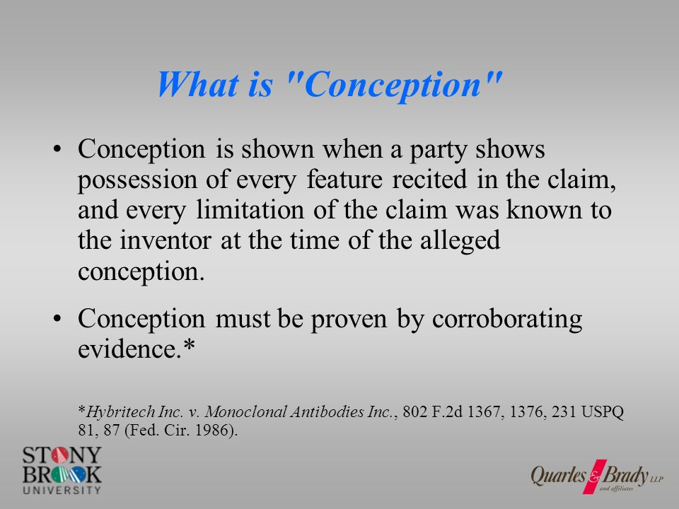 What is NOT Conception.