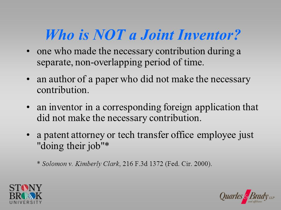 How Can You Document Joint Inventors in Team Setting.