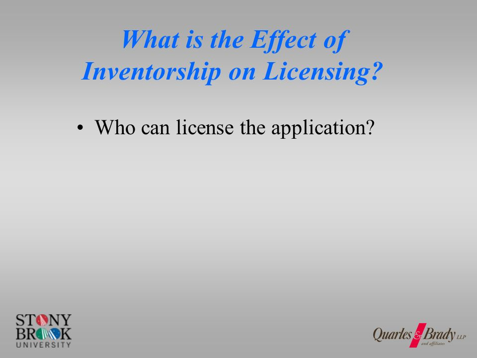 What is the Effect of Contracts on Inventorship/Ownership.