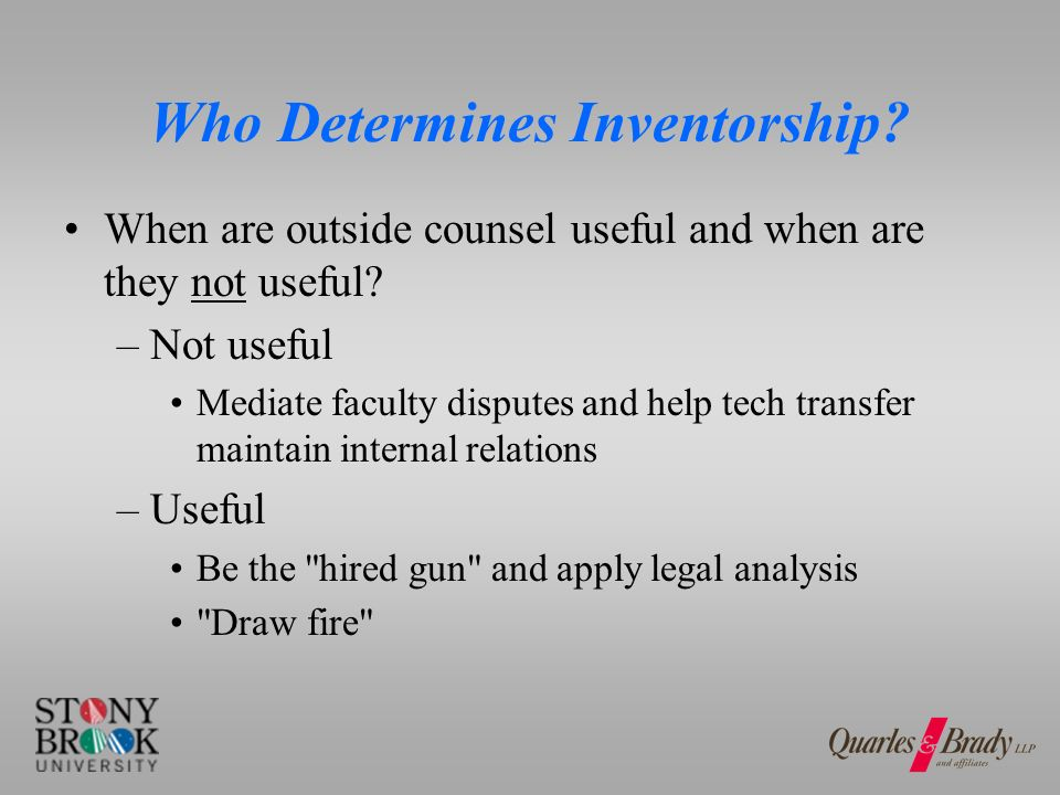 Who Can Change Inventorship? Owners Inventors
