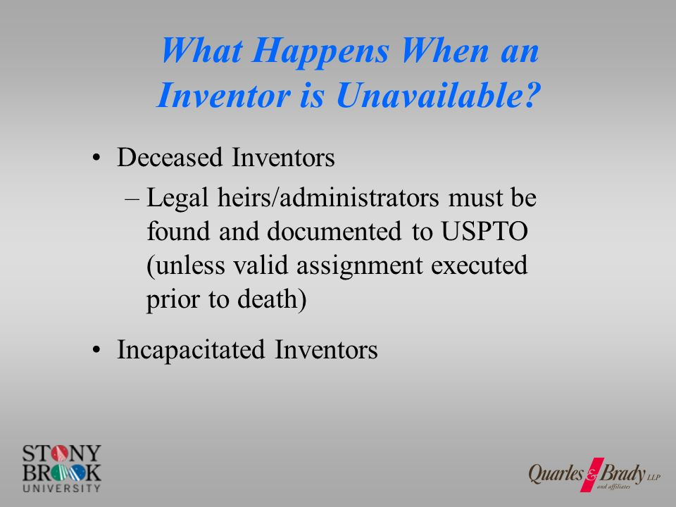 What Happens When an Inventor is Unavailable? Missing Inventors Uncooperative Inventors