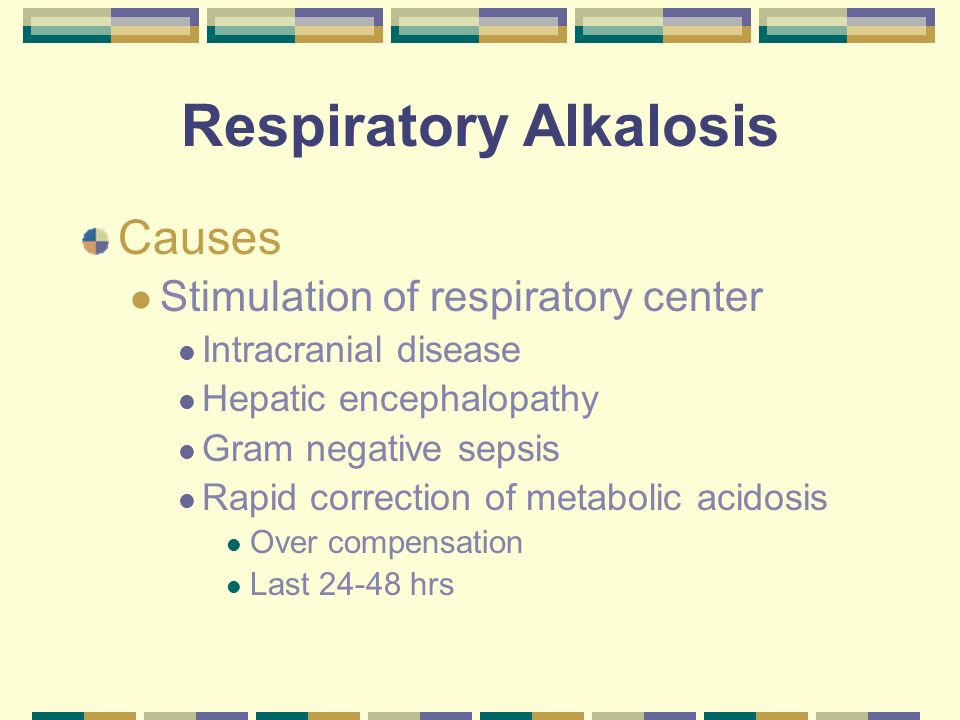 Respiratory Alkalosis What effect does CO 2 have on the body? H + + HCO 3 H 2 CO 3 H 2 0 + CO 2