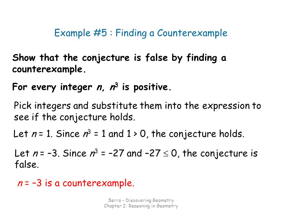 Show that the conjecture is false by finding a counterexample.