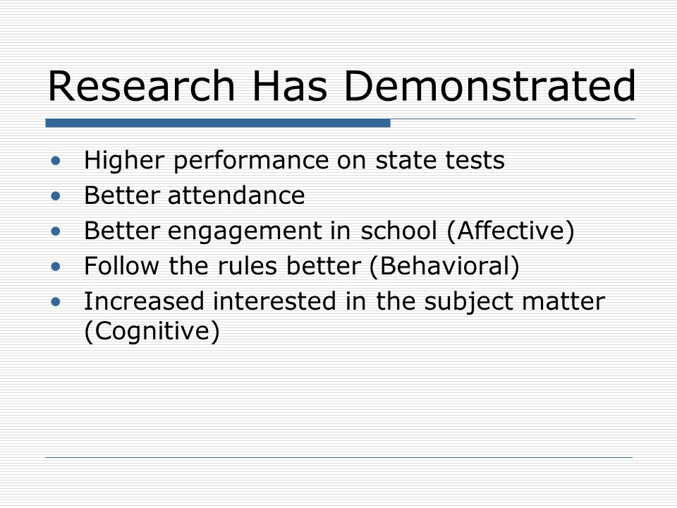 Enhancing Outcomes Link to standards Use instructional strategies with the greatest effect sizes High quality practice