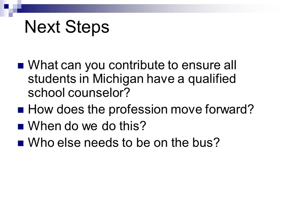 Next Steps (contd) What questions do you have.What challenges do you face as an mover & shaker.