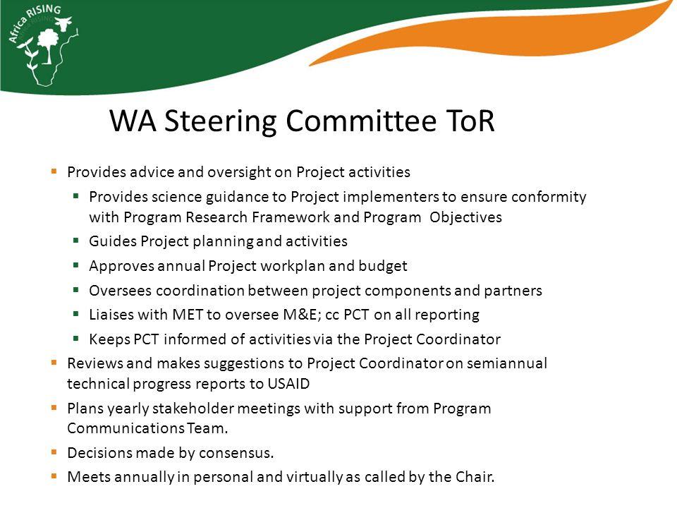 Chair: IITA (R.Asiedu, Regional Director West Africa) Project Coordinator, serves as Secretary (I.