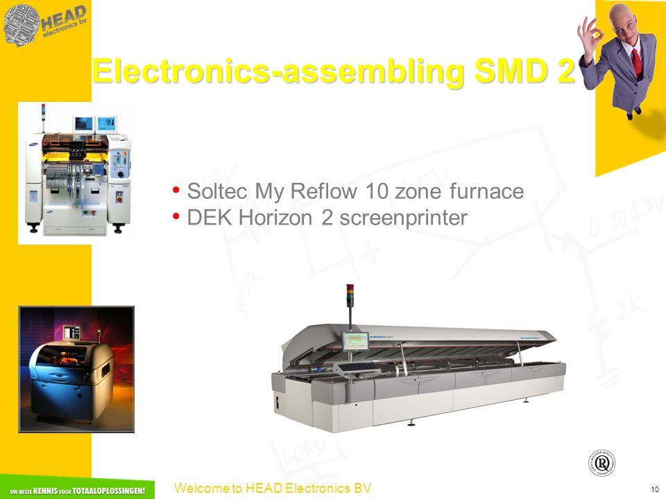 Welcome to HEAD Electronics BV 10 Electronics-assembling SMD 2 Soltec My Reflow 10 zone furnace DEK Horizon 2 screenprinter