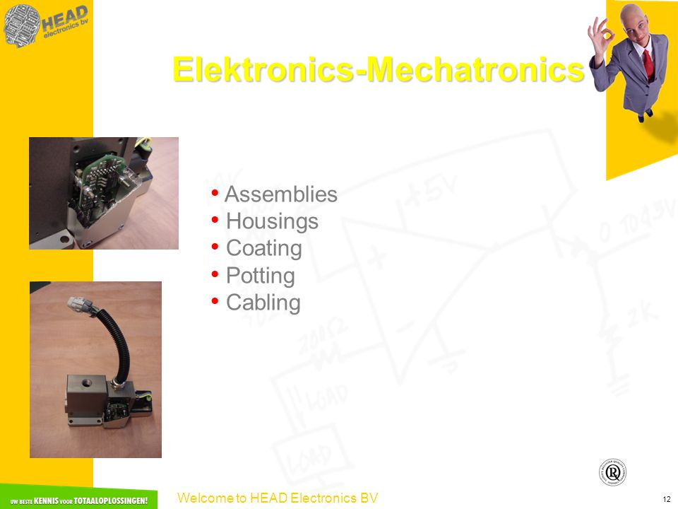 Welcome to HEAD Electronics BV 12 Elektronics-Mechatronics Assemblies Housings Coating Potting Cabling