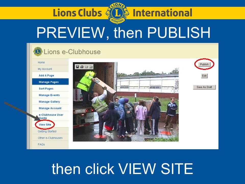 Lets ADD a LINK Log in again to edit a page Type in the basic text on the page first