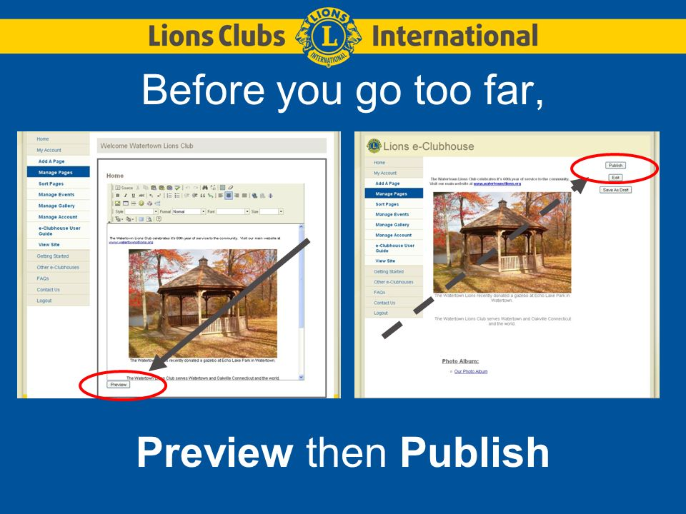 Review your page