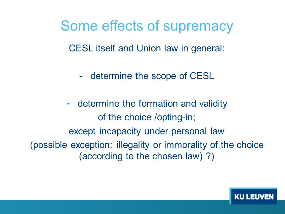 Scope of CESL ratione materiae CESL(R) excludes the rules of the applicable national law within its scope (≠ CISG 7(2)) - art.