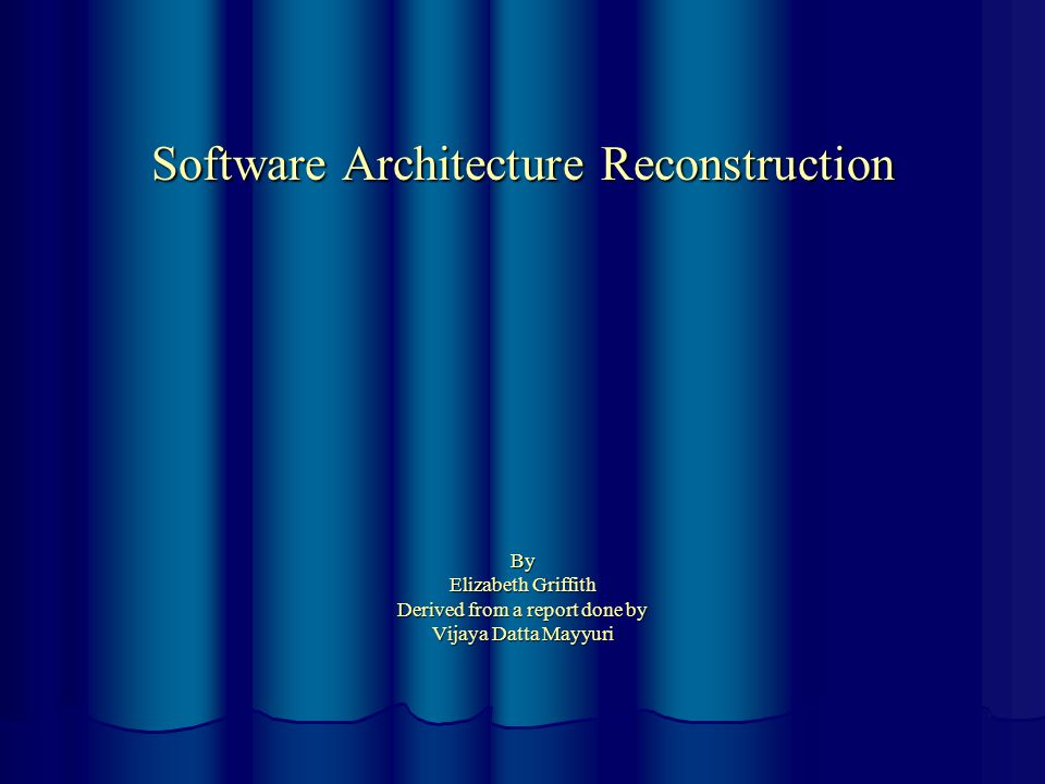 Introduction  Ideal World: Architectural information is documented during the Architectural design phase and is updated regularly to reflect the current system architecture.