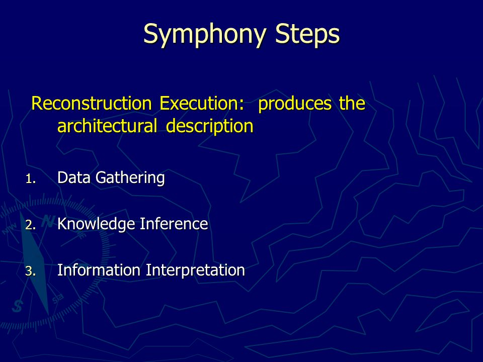Conclusion  There are several processes/techniques for software reconstruction.