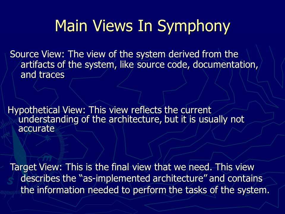 Library of Viewpoints   Module viewpoint – identifies the layers, subsystems, system modules, and the relationships among them.