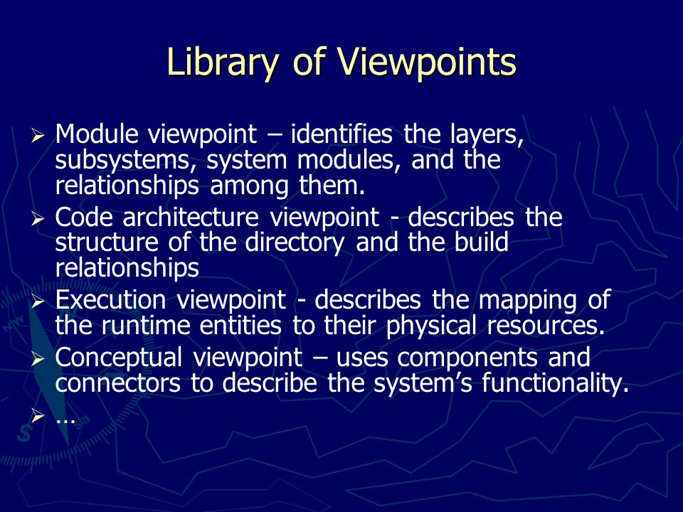 Viewpoints and Views in Symphony