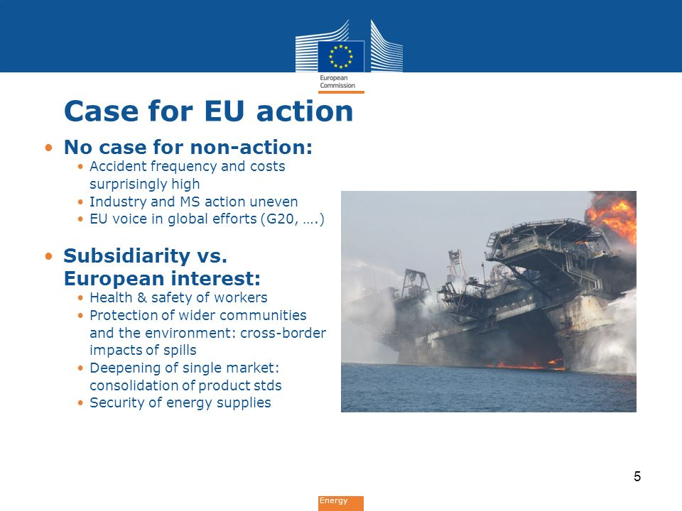 Energy Objectives of EU action Problem partGeneral objectivesSpecific objectives 1.