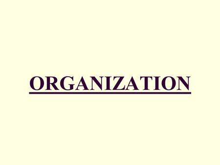 ORGANIZATION. I. Organizational Guidelines 3 GUIDELINES (1) DIFFERENT SECTIONS = DIFFERENT READERS o Organize for ALL readers o READER ANALYSIS: Readers'