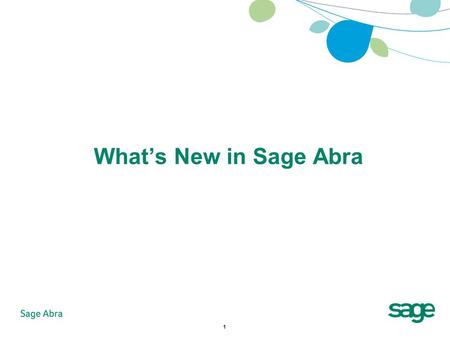1 What's New in Sage Abra. 2 Agenda What's New with Sage Abra HRMS Product Roadmap Summary.