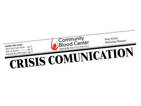 Purpose A crisis communication plan coordinates the communication within the organization, as well as between the organization and the media and the public.