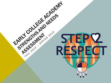 EARLY COLLEGE ACADEMY STRENGTHS AND NEEDS ASSESSMENT FALL 2012 – SPRING 2013.