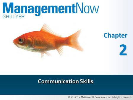 © 2012 The McGraw-Hill Companies, Inc. All rights reserved. Chapter 2 Communication Skills.