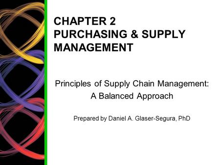 CHAPTER 2 PURCHASING & SUPPLY MANAGEMENT