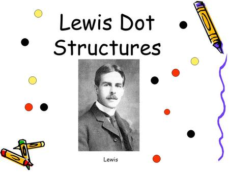 Lewis Dot Structures Lewis Lewis Dot Structures For atoms--- 1.Figure out how many valence electrons an atom has. 2.Draw the electrons one at a time.