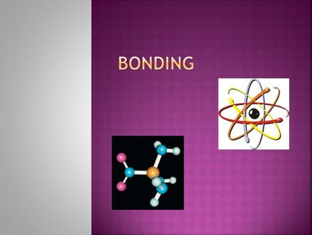  Intramolecular Bond  (Bond within a molecule)  Intermolecular force of attraction  (Attraction between 2 molecules)  Usually Dipoles (H- bonds)