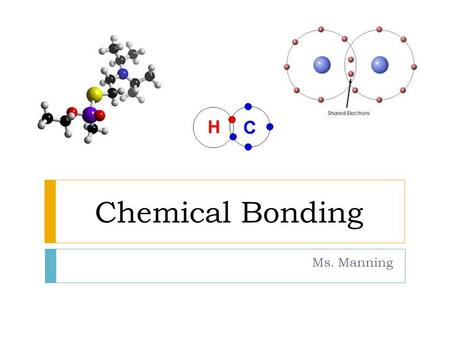 Chemical Bonding Ms. Manning.