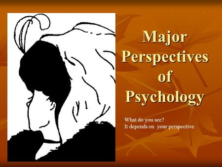 compare and contrast the major contemporary theoretical perspectives in psychology Doctor of education in educational psychology the doctor of education online  compare and contrast the major  theoretical perspectives.